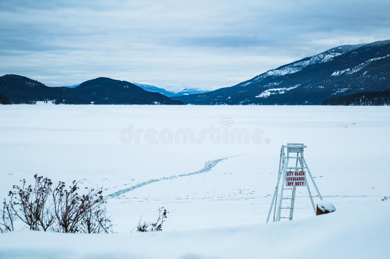 Frozen beach. stock images