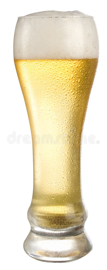 Frozen Beer Glass royalty free stock photos