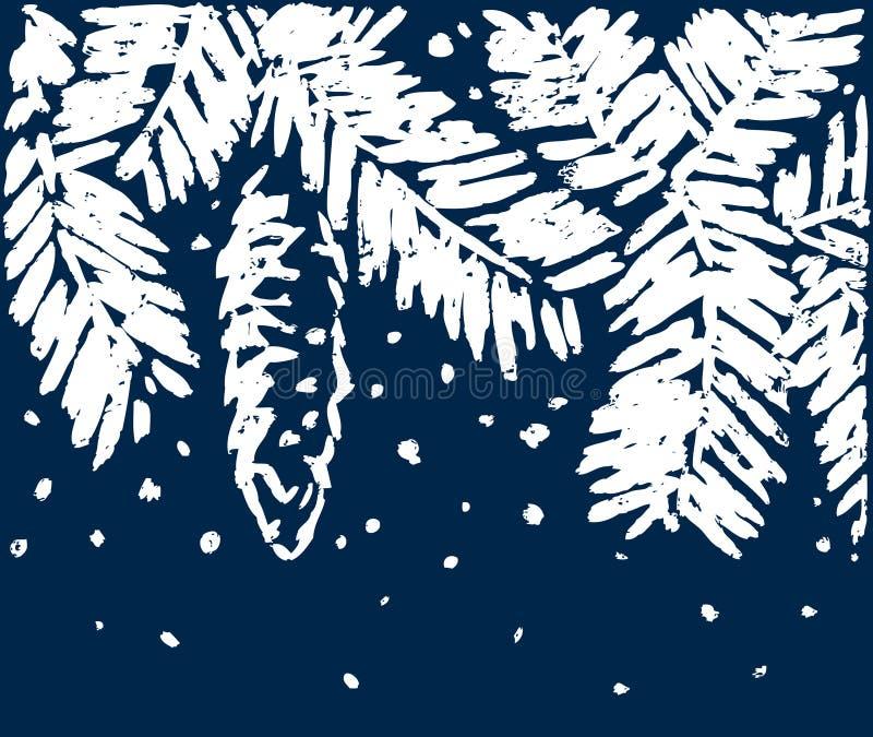 Frozen branch stock illustration