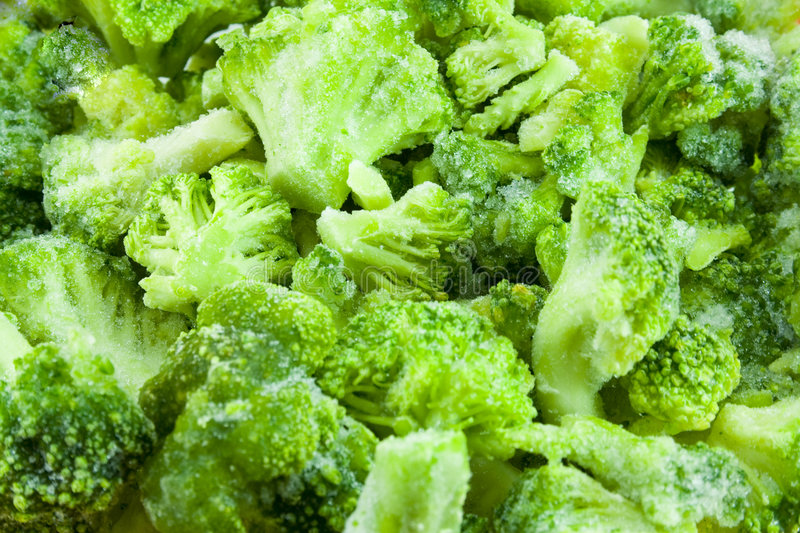 Frozen broccoli royalty free stock image