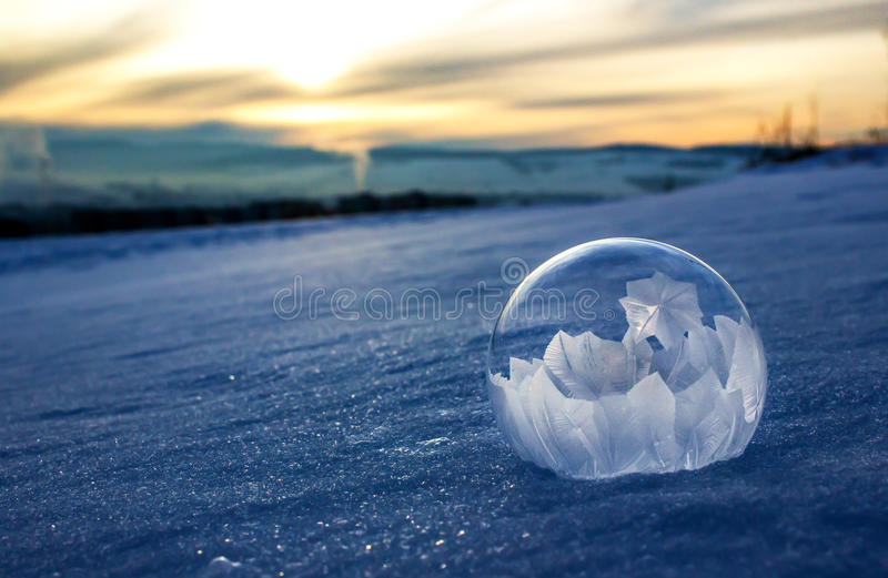 Frozen bubble royalty free stock photos