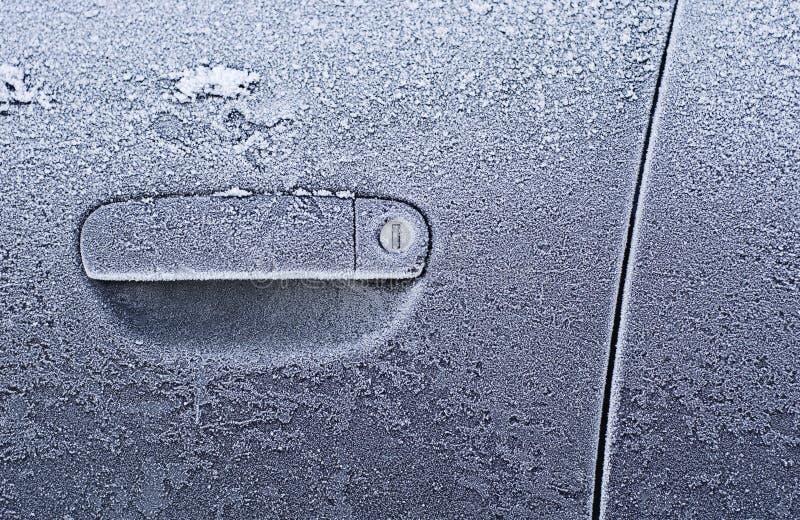 Frozen Car Door stock image