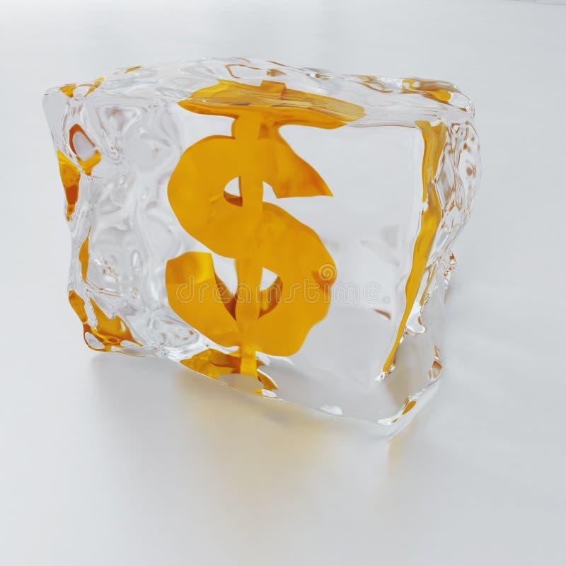 Frozen dollar royalty free stock image
