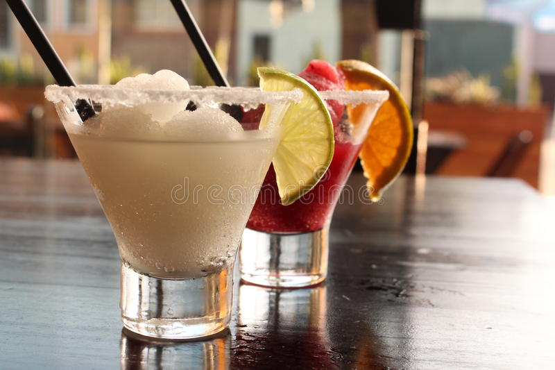 Frozen drink. On a beautiful summer afternoon royalty free stock photo