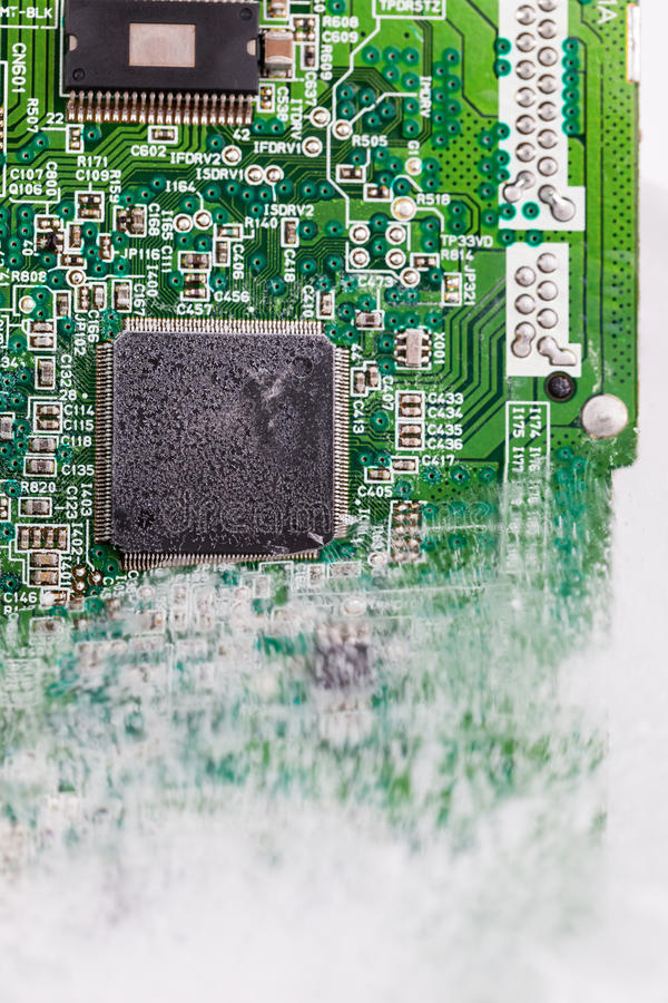 Download Frozen Electonics Board For Pc In Ice Stock Image - Image of condenser, drive: 39803959