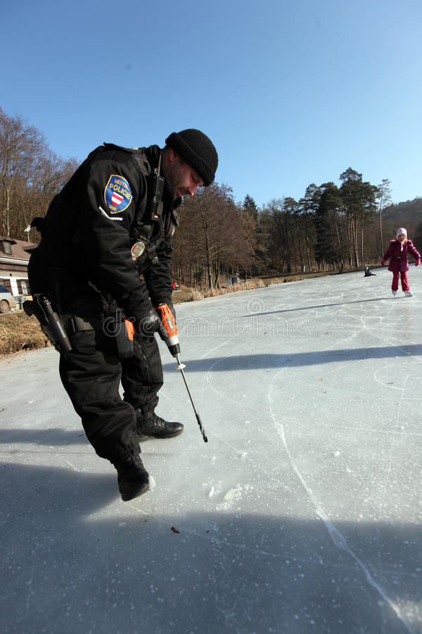 Download Frozen Europe editorial stock photo. Image of police - 23170643