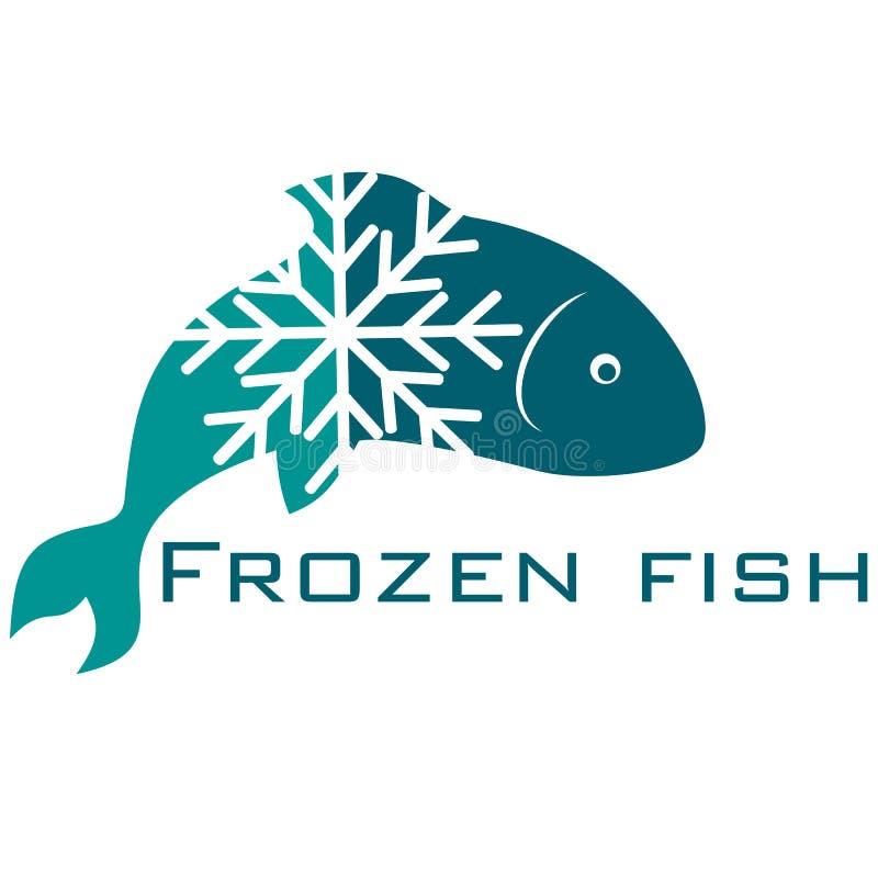 Frozen fish. Design for business stock illustration
