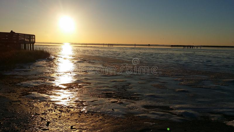Frozen Flats royalty free stock photos