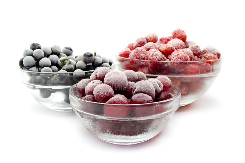 Frozen fruit stock photography