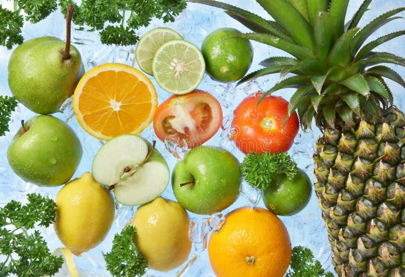 Frozen fruits stock images