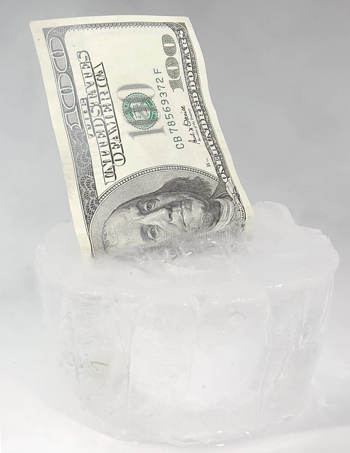 Frozen Funds Royalty Free Stock Photo