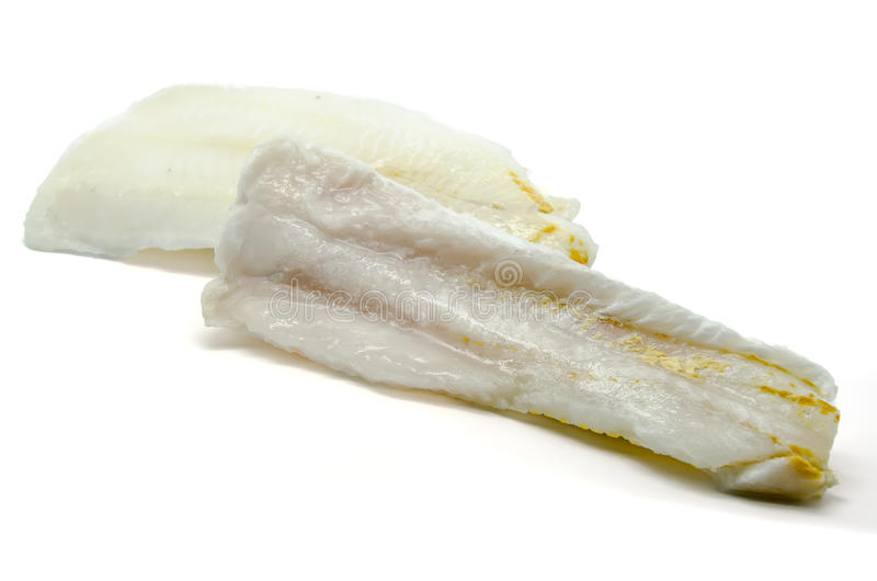 Frozen hake fillets royalty free stock photography