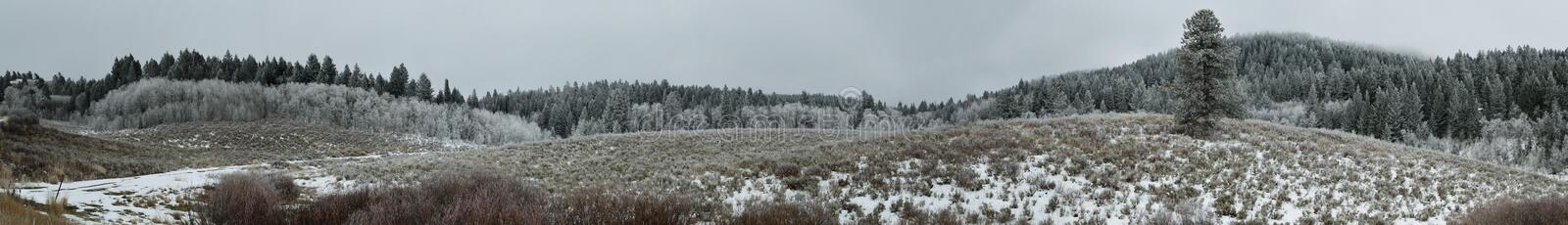 Frozen Hills royalty free stock images