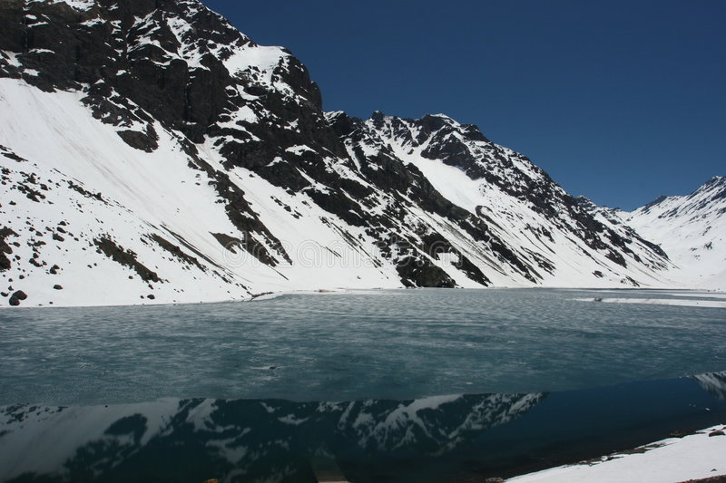 Download Frozen Lake stock photo. Image of snow, calm, water, south - 372154