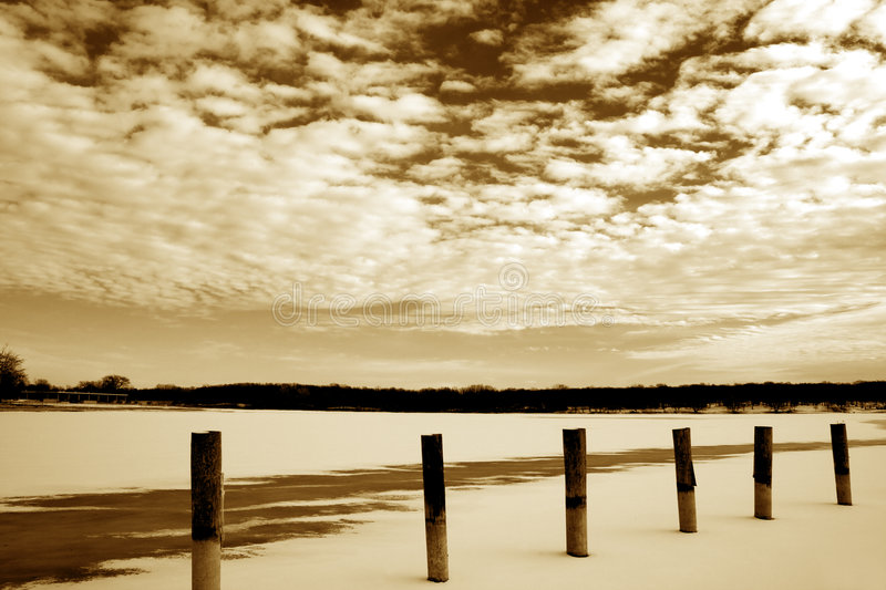 Download Frozen Lake And Clouds Landscapes Stock Photo - Image: 3818468