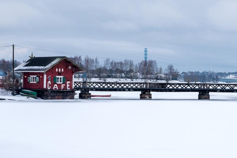 Finland in winter stock images