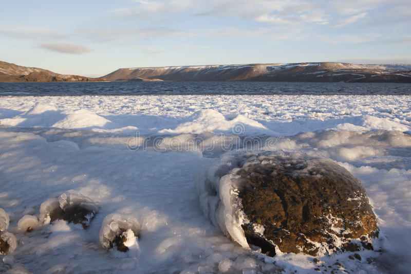 Download Frozen lake in Iceland stock image. Image of iceland - 17875995