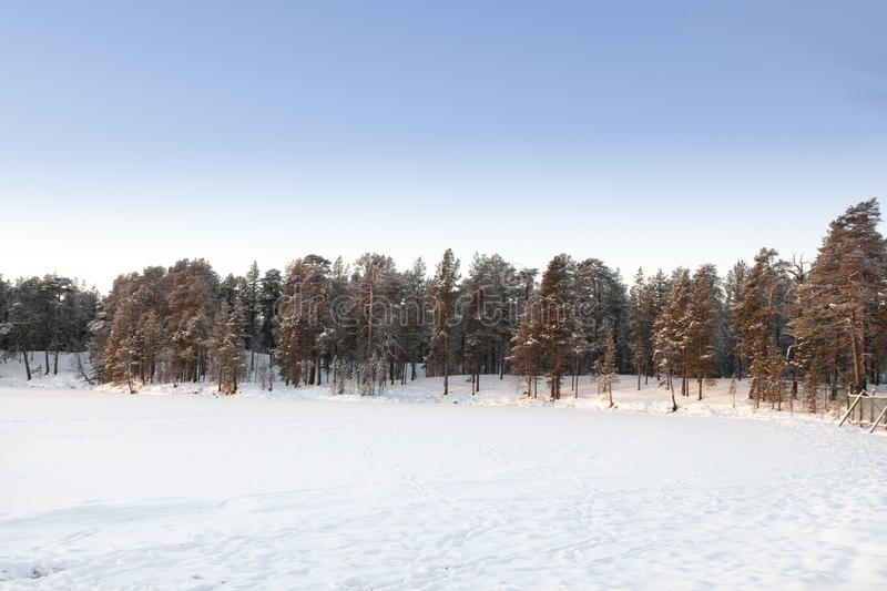 Download Frozen Lake In Inari, Finland Stock Photo - Image: 28679654