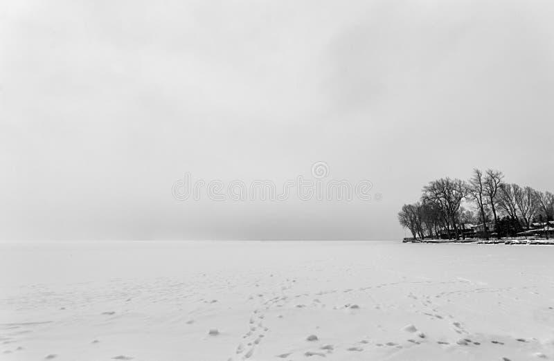 Frozen Lake Saint-Louis Royalty Free Stock Image