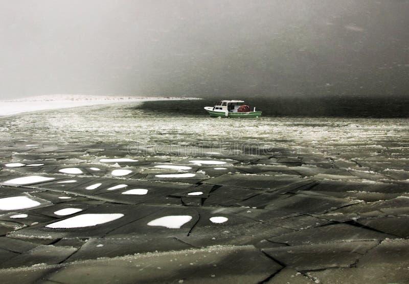 Frozen lake in Turkey stock photo