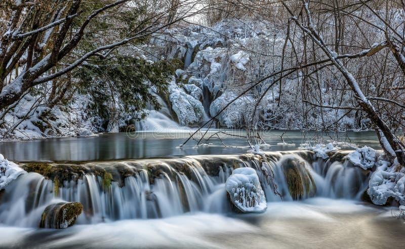 Frozen lake royalty free stock photo