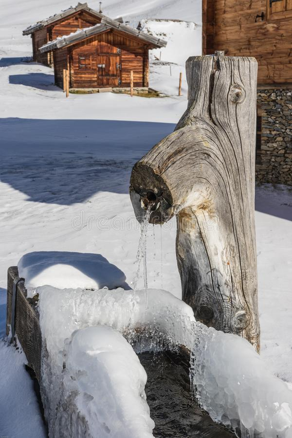 Frozen Lake during Winter stock photo