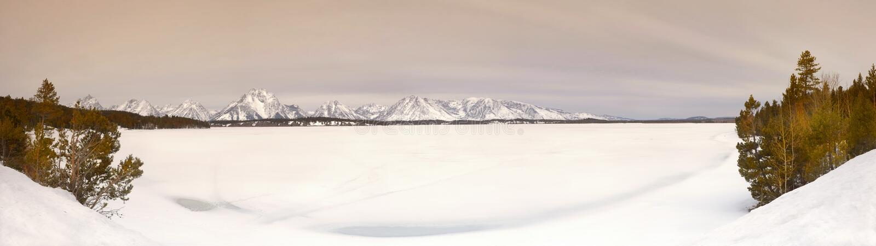 Download Frozen Lake, Wyoming stock photo. Image of sunrise, tourist - 14178956
