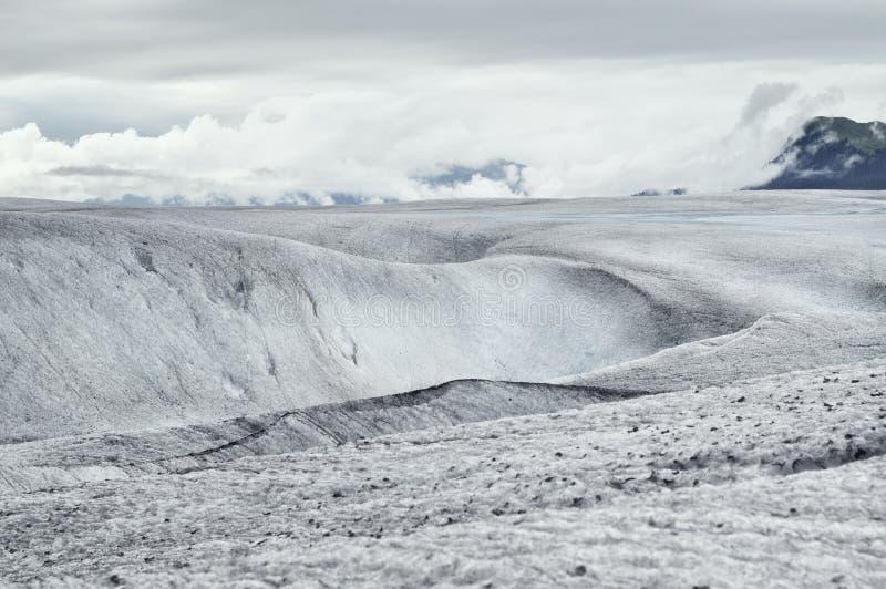 Frozen landscape on Mendenhall Glacier, Juneau, Alaska stock images