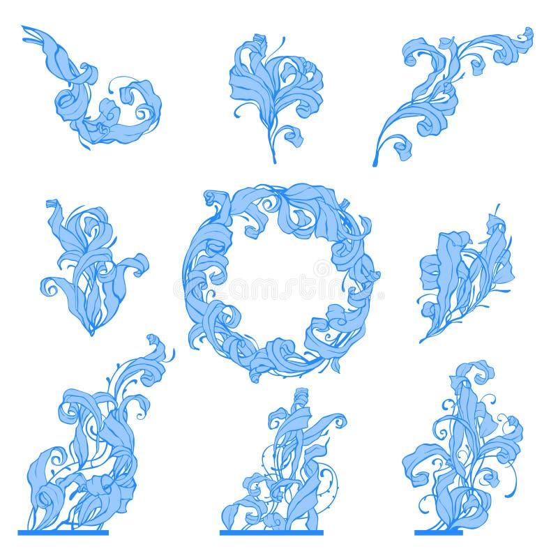 Download Frozen leafs stock illustration. Illustration of detail - 7358509