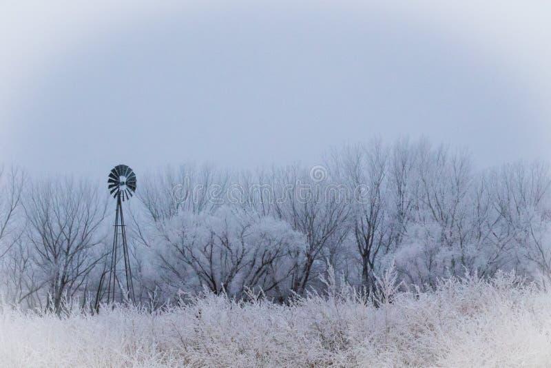 Frozen Mill stock photo