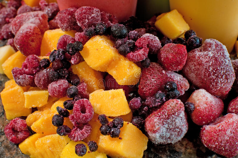 Frozen Mixed Fruit Royalty Free Stock Images