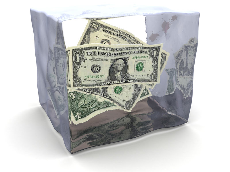 Frozen Money Royalty Free Stock Photography