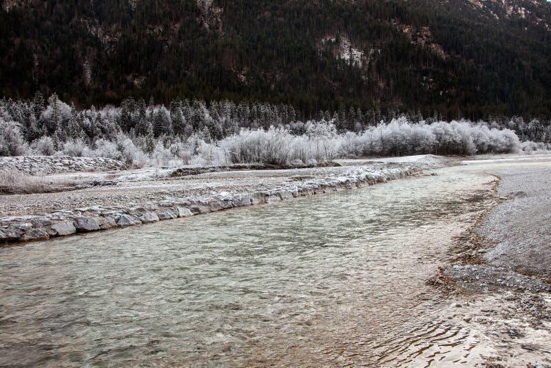 Frozen nature near Garmisch-Partenkirchen, Germany. royalty free stock image