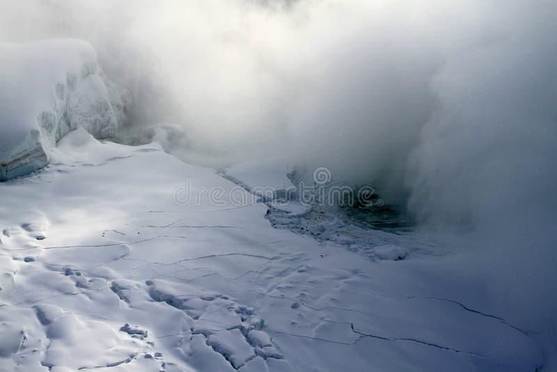 Frozen Niagara Falls In Winter Stock Image