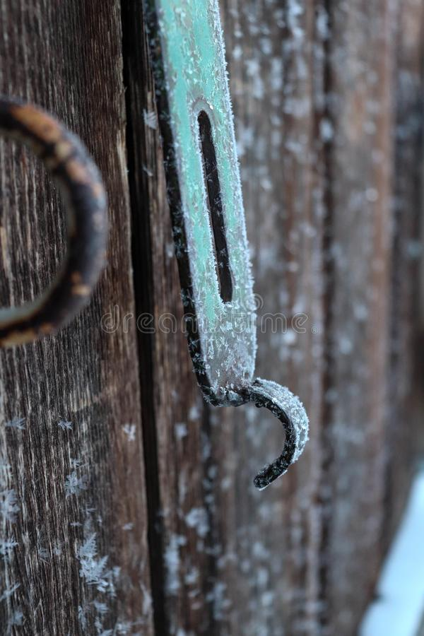 Frozen old fashioned lock stock photos