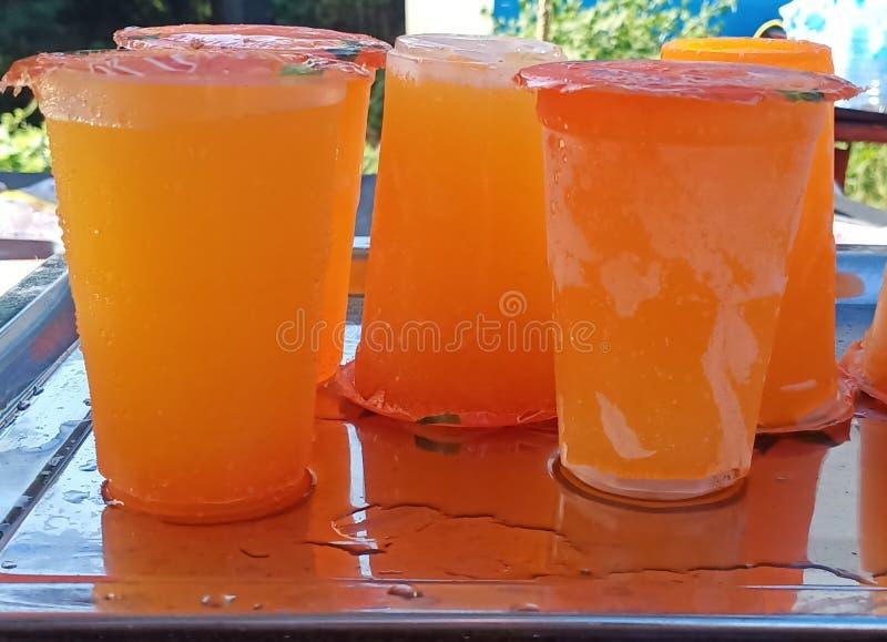 Frozen orange juice stock photography