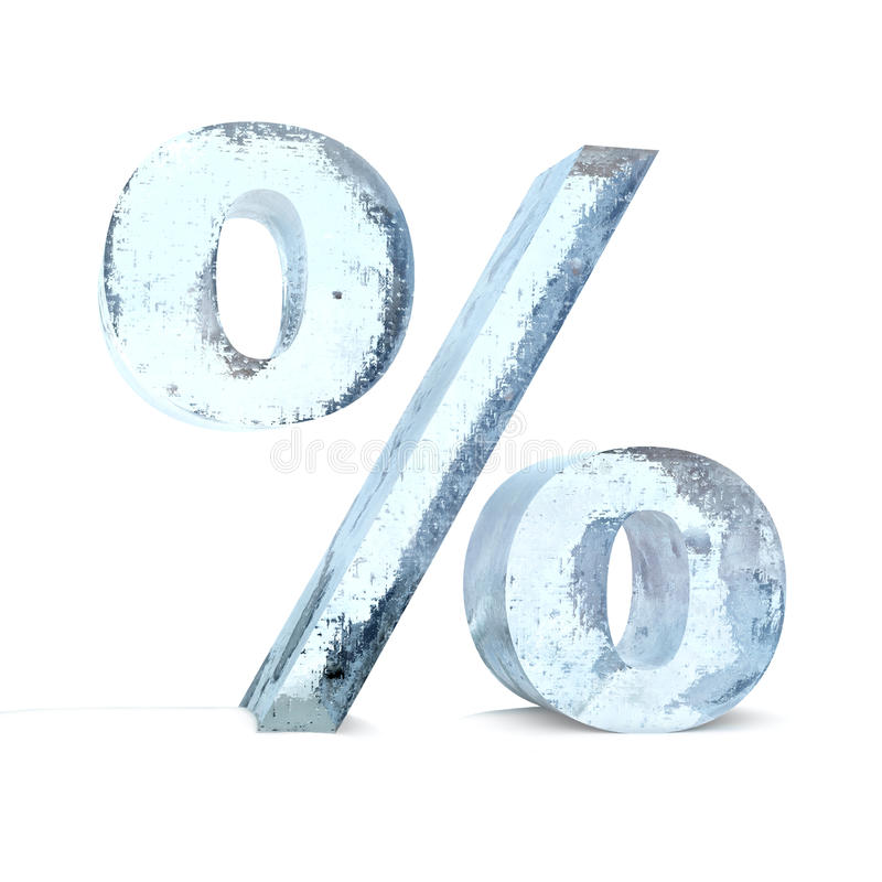 Frozen Percentage Sign Stock Photography