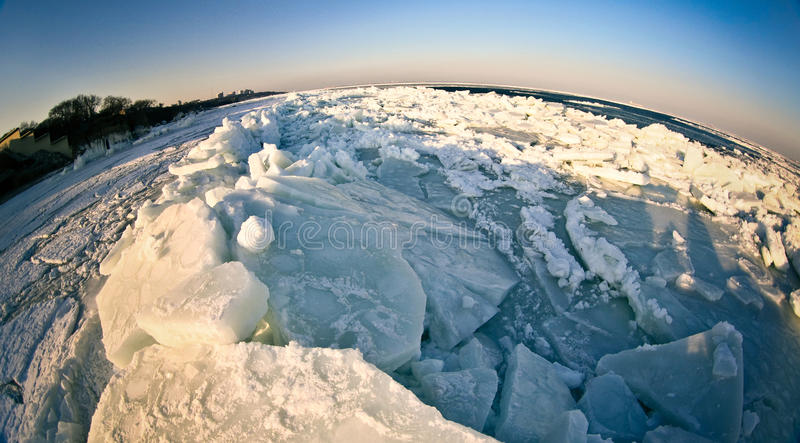 Frozen planet royalty free stock photos