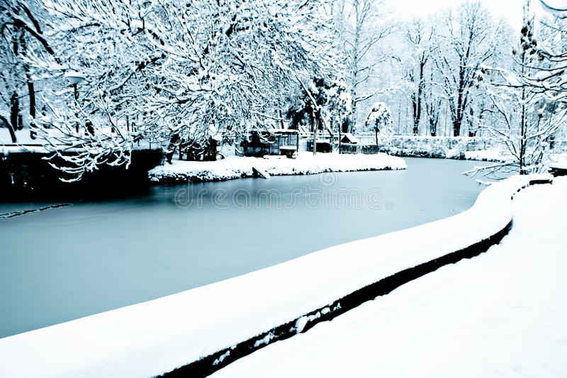 Download Frozen Pond Stock Images - Image: 18006564