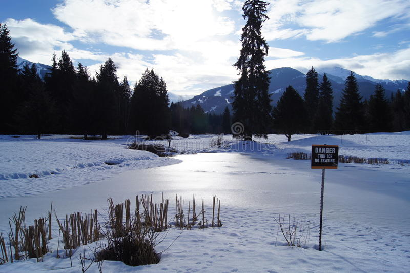 Download Frozen Pond In Mountain Resort Stock Photo - Image: 23303486