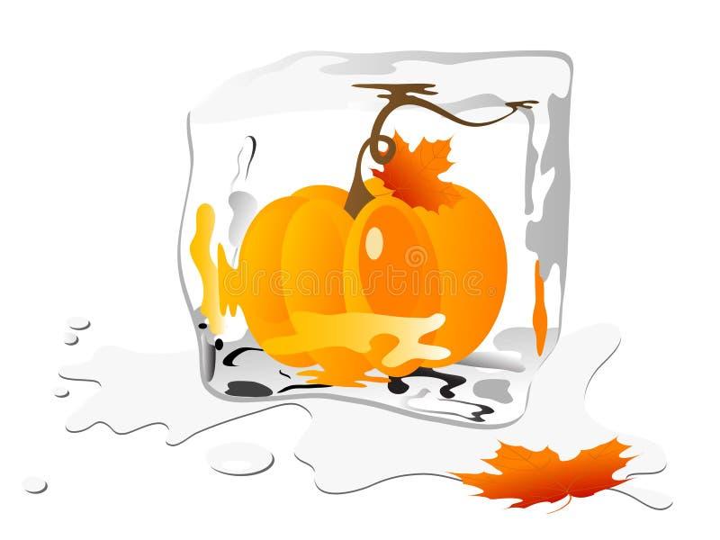 Download Frozen pumpkin stock vector. Image of frost, vector, water - 21491956