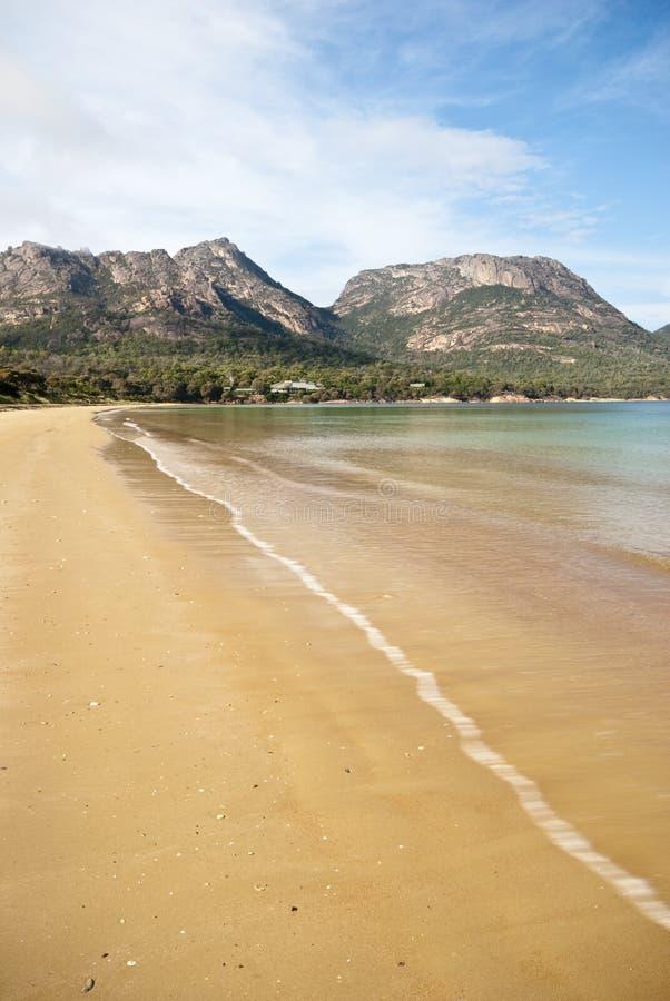 Frozen ripple, Beach, Freycinet,Tasmania royalty free stock photography
