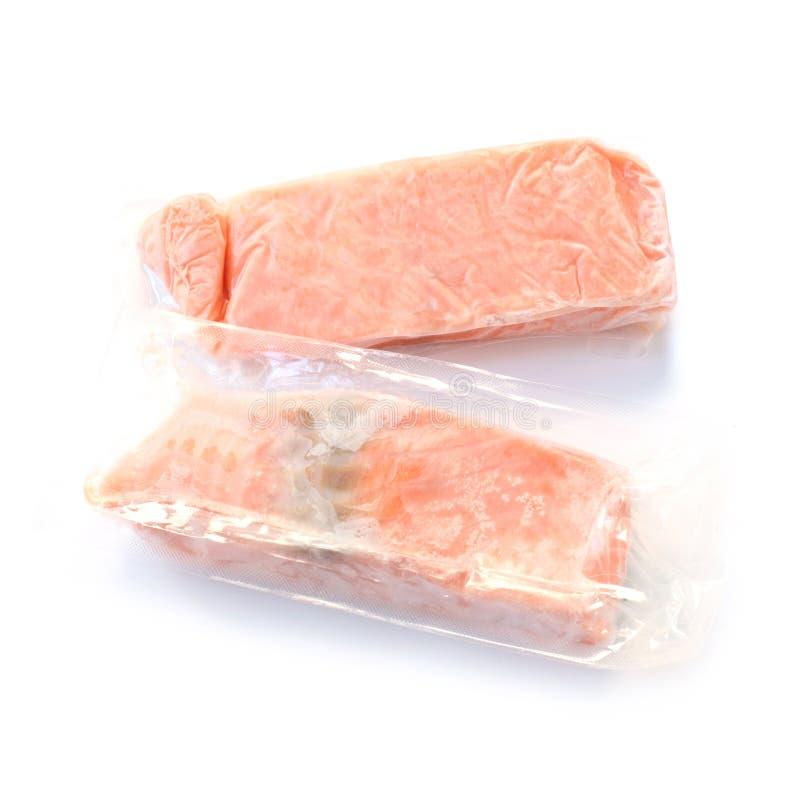 Frozen Salmon Fillets stock photography