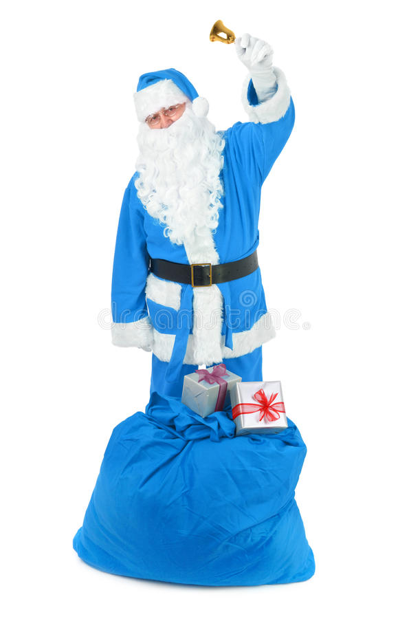 Frozen Santa claus with attributes stock photos