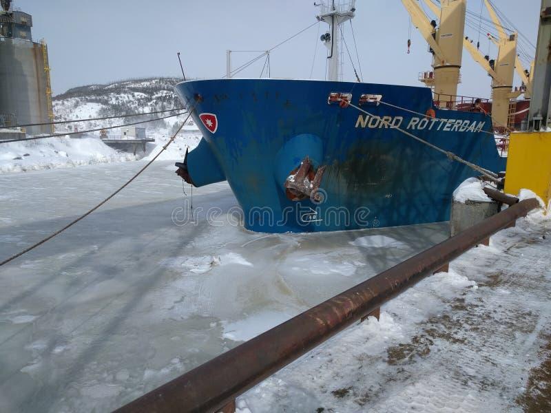 Frozen sea stock photo