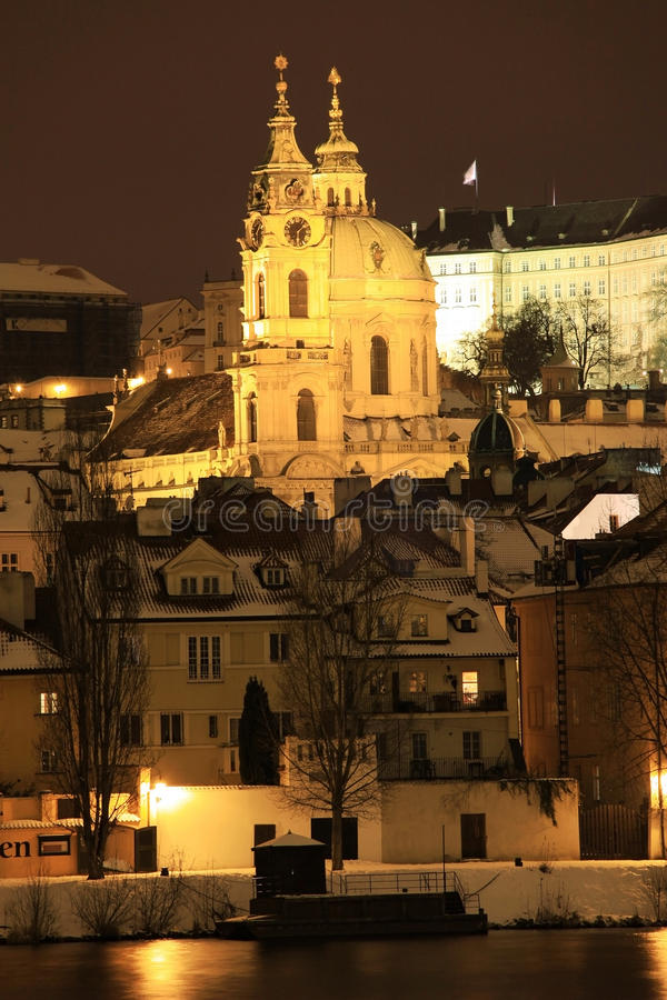 Download Frozen Snowy St. Nicholas' Cathedral In The Night Stock Photos - Image: 13017513