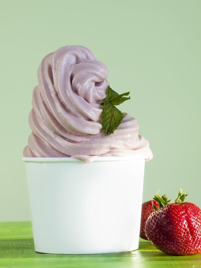 Download Frozen Soft Serve Yogurt. stock photo. Image of dairy - 24438578