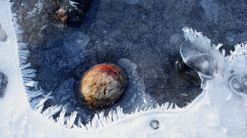 Frozen Stone stock image