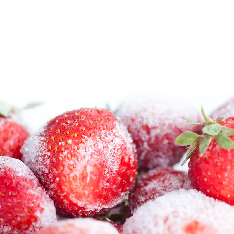 Free Frozen Strawberry On The White Background Stock Images - 60631334