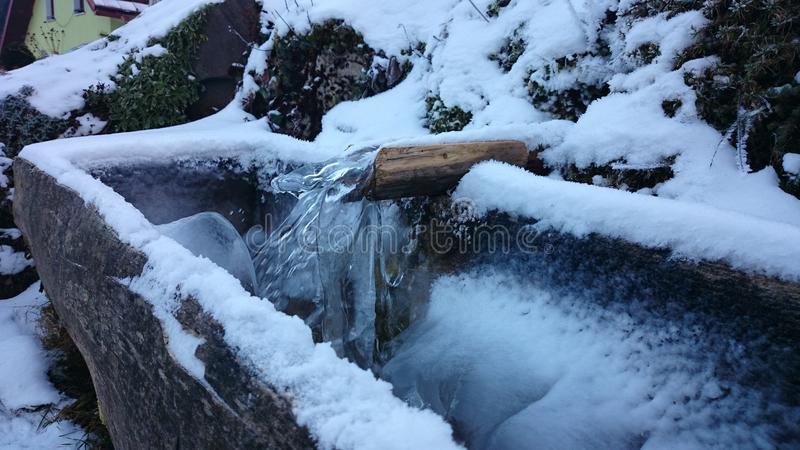 Frozen stream royalty free stock photography